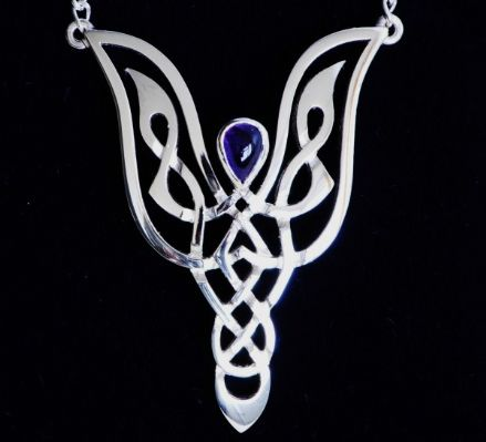 Celtic Jewellery Knotwork Angel Necklace CA1